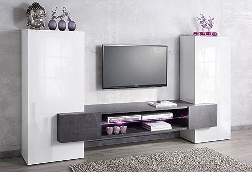 90 wohnwand mediawand wohnzimmerschrank fernsehschrank. Black Bedroom Furniture Sets. Home Design Ideas