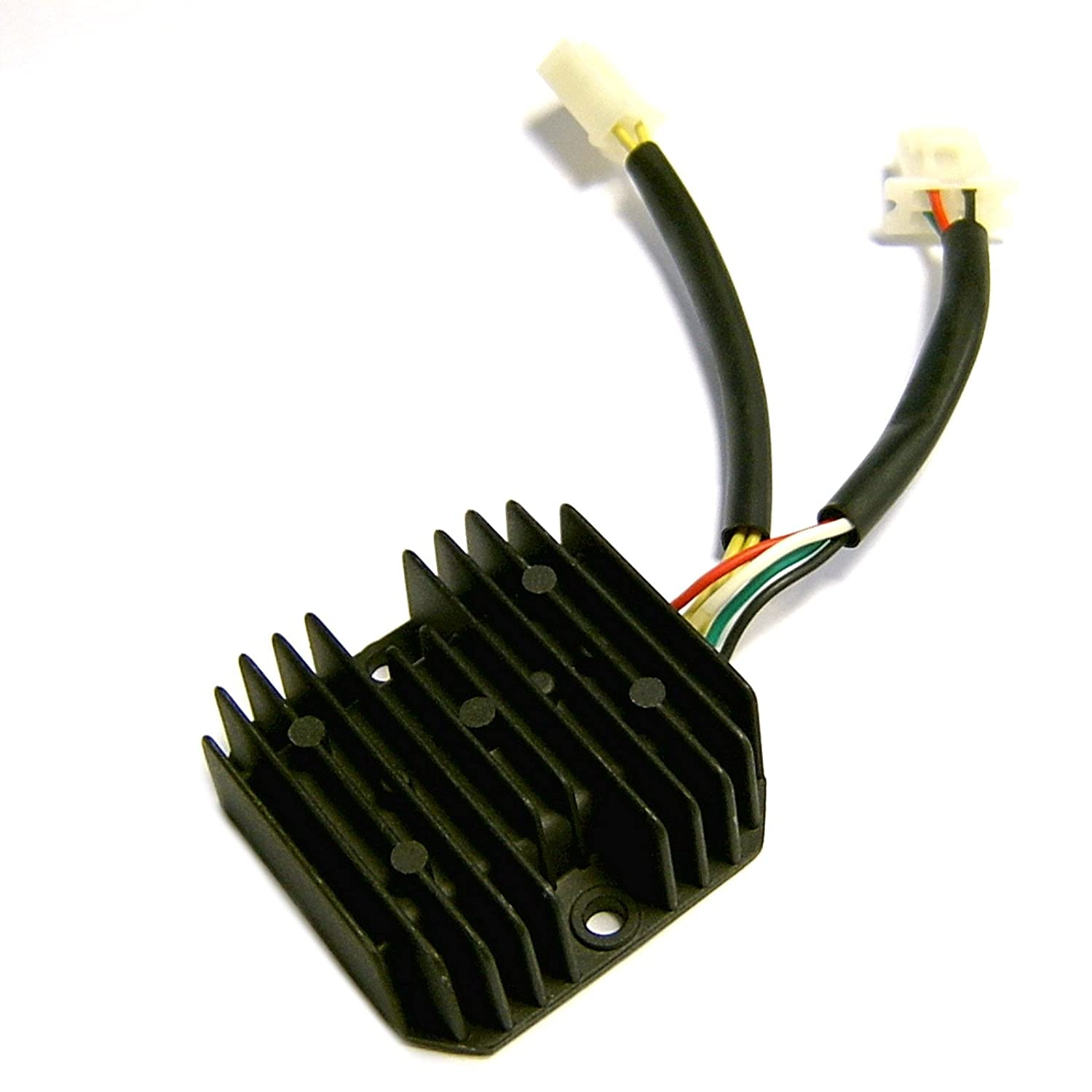 Oem Voltage Regulator Rectifier 12v 3 4 Pins In 2 Plugs For 11 Gy6 200cc Chinese Atv Wiring