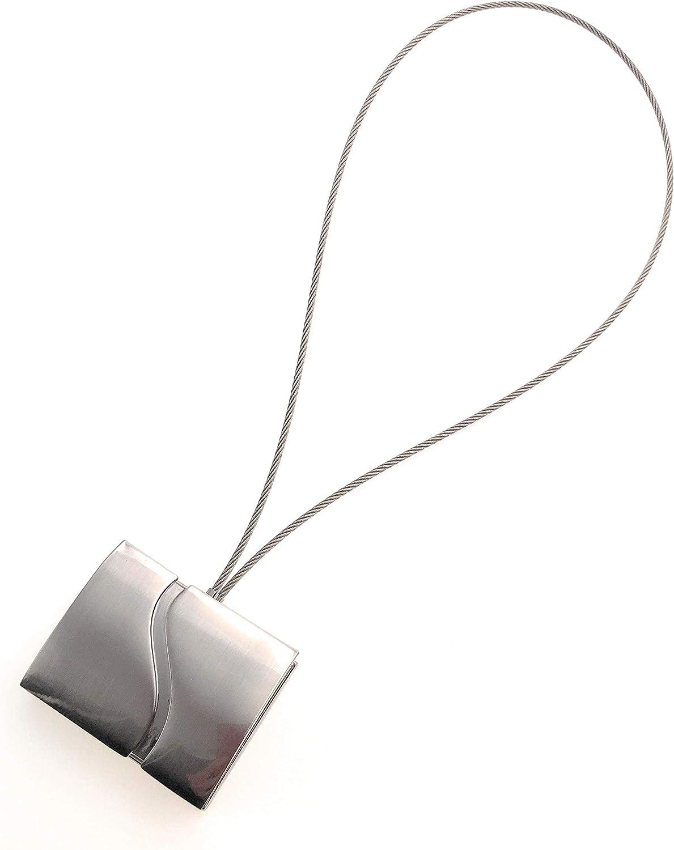 D/écoProfi Raffhalter//Schalhalter f/ür Gardinen mit Magnetverschlu/ß eckig verchromt