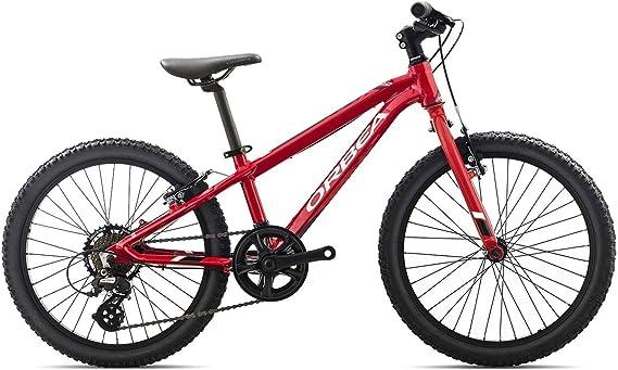 Bicicleta de montaña infantil Orbea MX de 20 pulgadas, 7 marchas, bicicleta de montaña de aluminio, I008, color rojo, tamaño talla única: Amazon.es: Deportes y aire libre