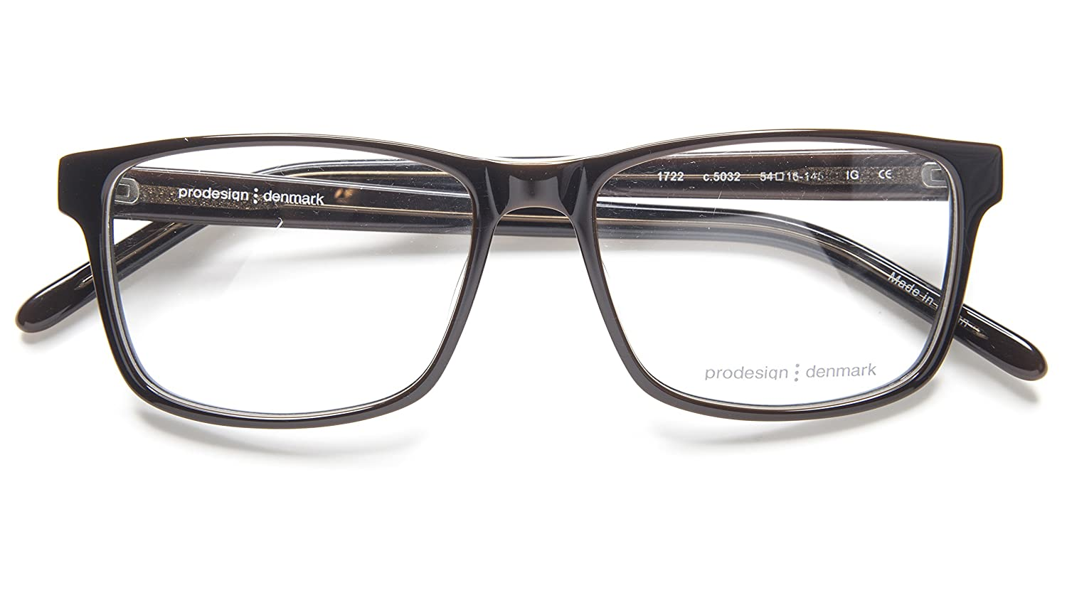 470a662b744 Amazon.com  NEW PRODESIGN DENMARK 1722 c.5032 BROWN EYEGLASSES FRAME 54-16-145  IG B39 Japan  Clothing