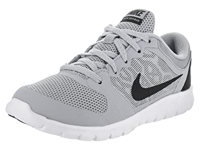 0057c402a7cd NIKE Flex Run 2015 Kids Athletic Footwear Running Shoe Boys and Girls Grey  White Black Fashion