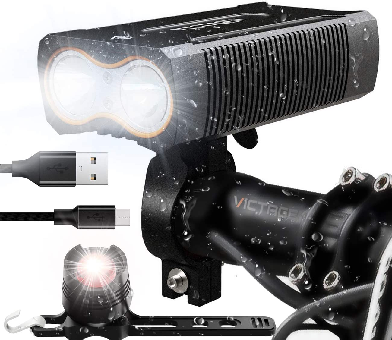 Victagen USB Rechargeable Bike Light}