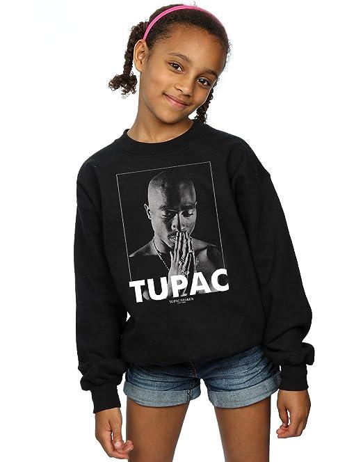 ba77e7a5d 2Pac niñas Tupac Shakur Praying Camisa De Entrenamiento  Amazon.es  Ropa y  accesorios