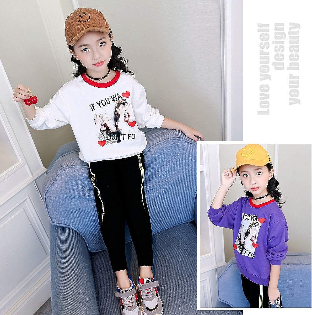 MV Autumn Childrens Long-Sleeved Korean Girls Sweaters Printing Kids Clothing