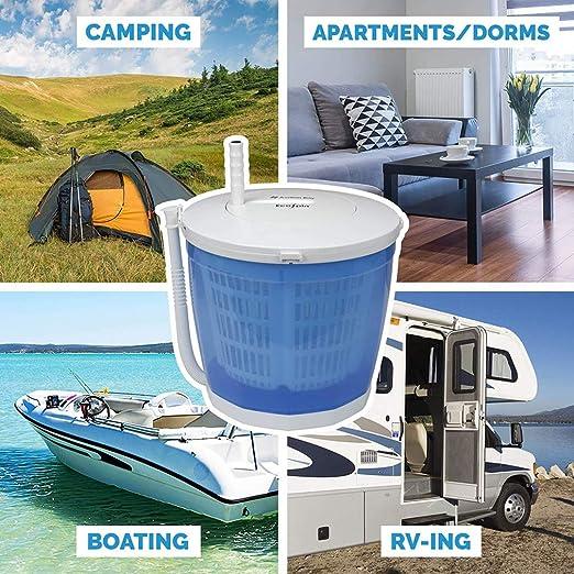 QQNB Mini Lavadora de Ropa de Camping,Lavadora Manual ...