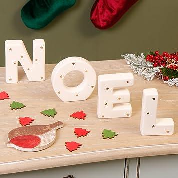 Dekorative U0026quot;Noel Keramik Buchstaben U2013 Weihnachten Mittelpunkt  Dekoration Ideal Für Tisch/Fensterbank/
