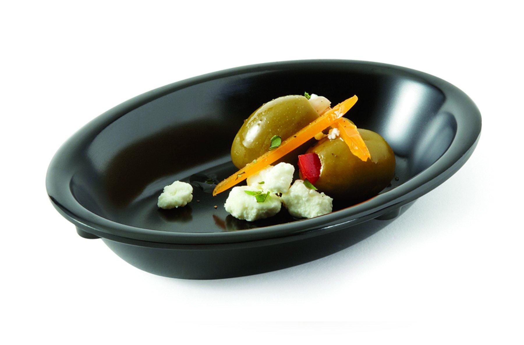 G.E.T. Enterprises 5 oz. Black Side Dish, Break Resistant, Ramekins by GET DN-365-BK-EC (Pack of 4)