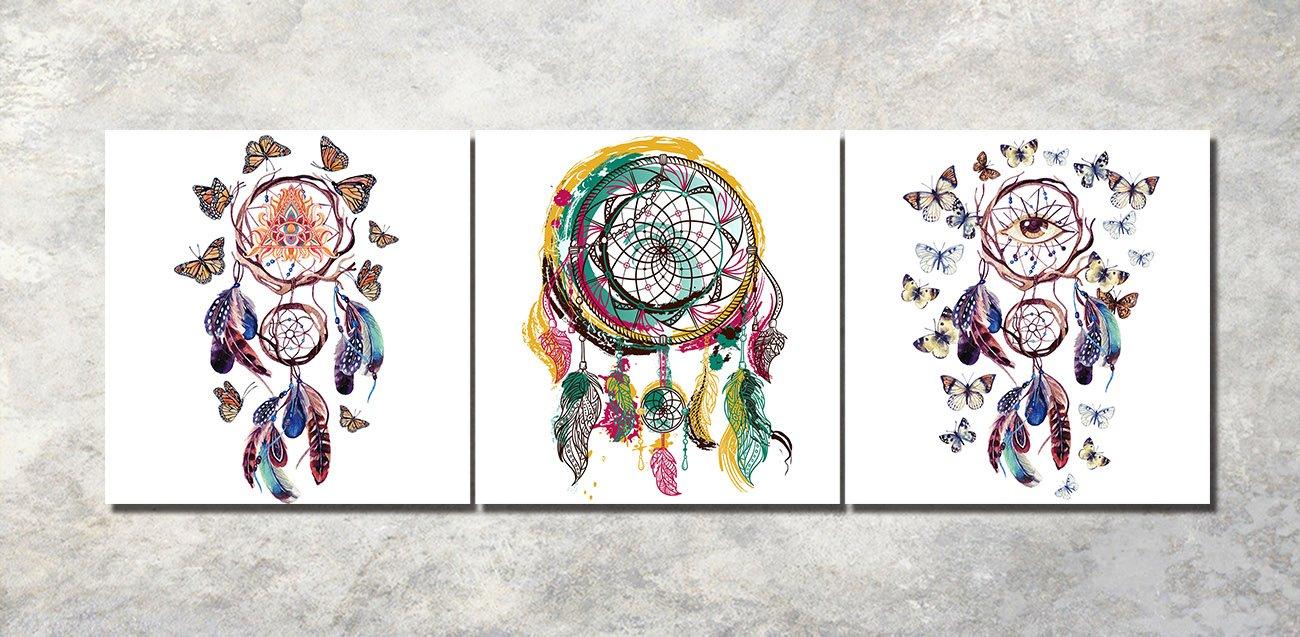 LB Flores Europeas/_Arte de la Pared Pintura al /óleo Imagen en Lienzo Decoraci/ón del hogar,3 Paneles,40x 40 CM,Sin Marco