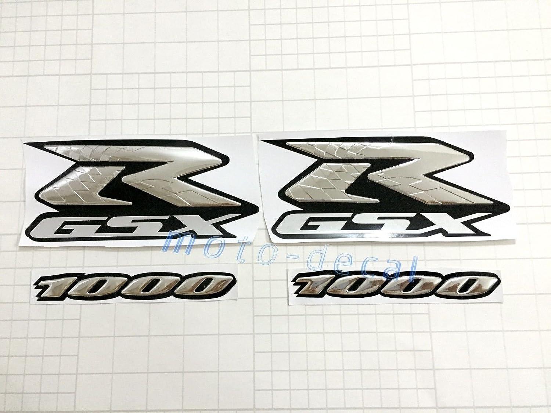Decal Story 3D Emblem Sticker Decal Silver Raise Up Polish Gloss For Honda Goldwing GL 1800