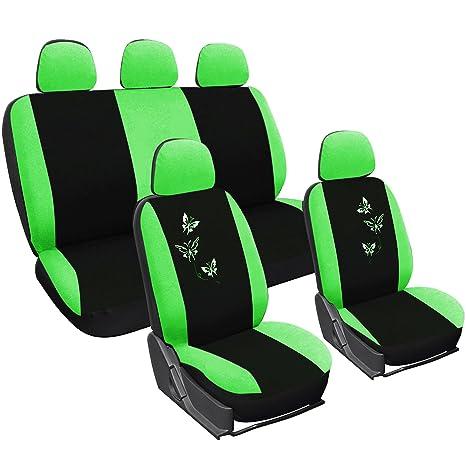 Sitzbezüge grün hinten KOS OPEL CORSA