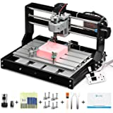 Genmitsu CNC 3018-PRO Router Kit GRBL Control 3 Axis Plastic Acrylic PCB PVC Wood Carving Milling Engraving Machine, XYZ Work