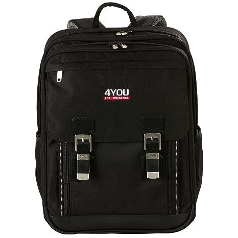 67c2ec0136b40 4YOU School Backpacks 11430799100 Black  Amazon.co.uk  Luggage