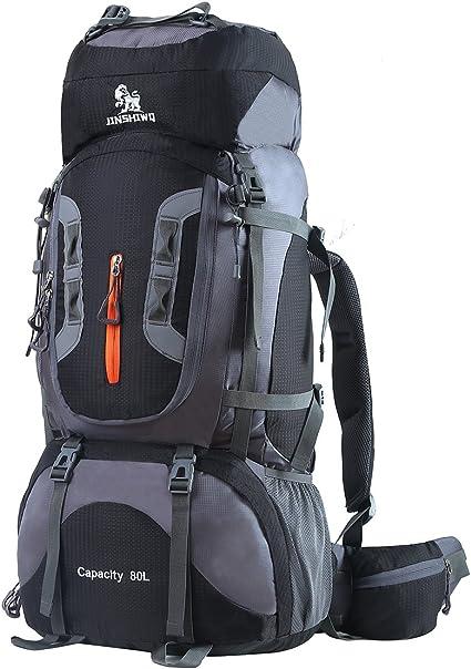 50L Couple Sac /à Dos de Sport en Nylon Imperm/éable pour Camping Voyage Randonn/ée Escalade Cyclisme Noir