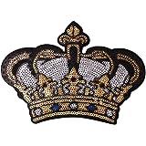 Gosear Exquisito Lentejuelas Ropa Parches Pegatinas patrón de la Corona Bordado DIY Iron-on Parche para Ropa Camiseta Pantalones Vaqueros Ropa Bolsos
