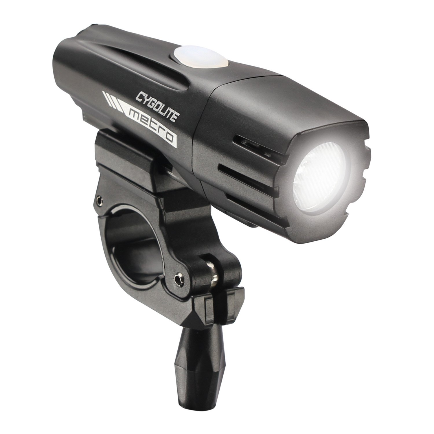 Cygolite Metro 500 USB Rechargeable Bike Light, Powerful 500 Lumen Bicycle Headlight for Road Cycling and Commuters, 6 Different Lighting Modes for Day and Night Safety.