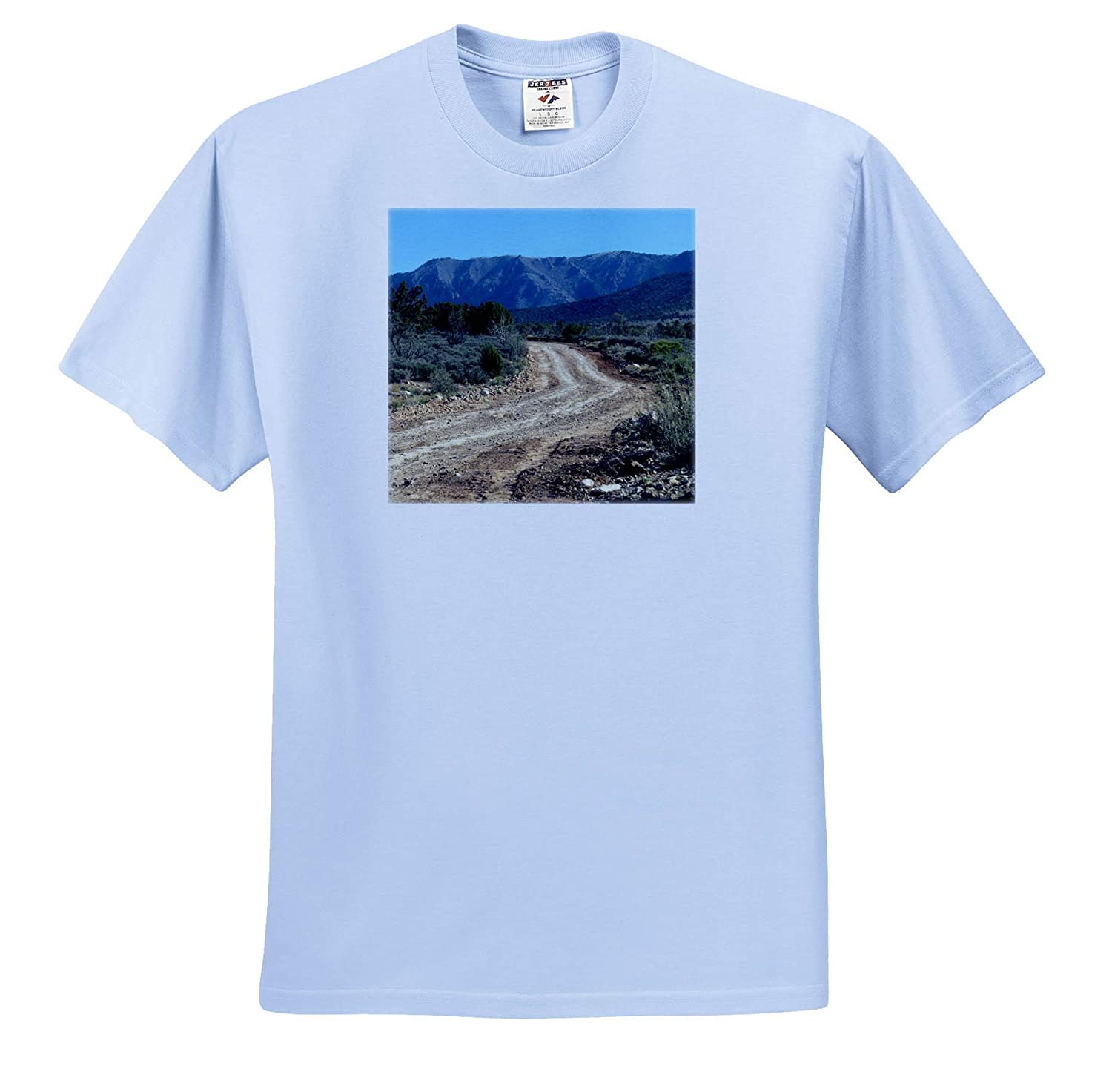 ts/_318874 Adult T-Shirt XL A Dirt Road Out to a Mountain in Southern Utah 3dRose Jos Fauxtographee- Backroad