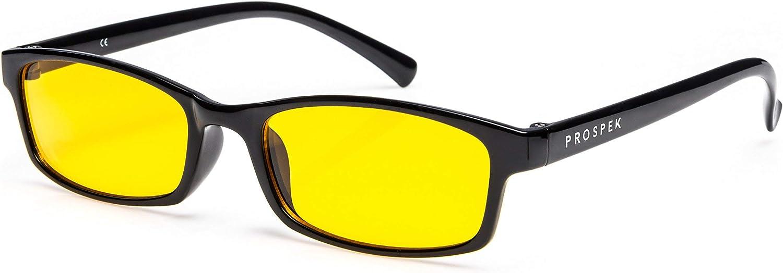 GAFAS DE ORDENADOR PROSPEK: Gafas para ordenador con filtro de luz azul Elite. Antirreflejantes, antifatiga, protección contra UV y radiación electromagnética de ordenador/TV, antiniebla, antiarañazos