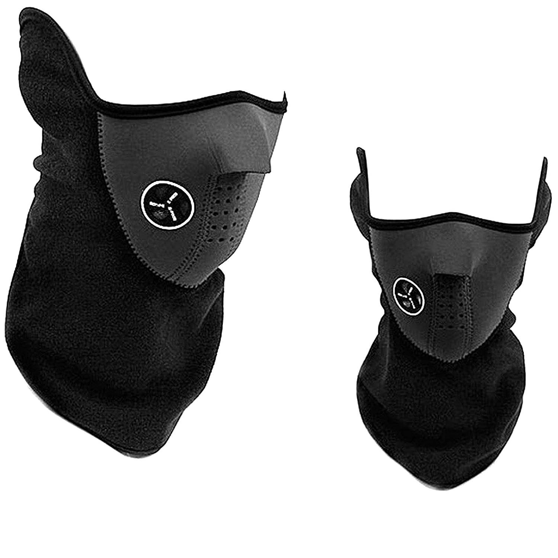 2x Mascara Braga Facial de Neopreno Proteccion Ciclismo Moto Montañ a Marcha Nordica 4090_2