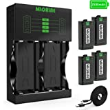 Xbox One Rechargeable Battery Packs 4 x 2500mAh Nimh Xbox Accessories Rechargeable Controller Battery and Xbox Charging Compatible with Xbox One/Xbox One S/Xbox One X/Xbox One Elite Wireless Controller series 4 Batteries & xbox play charge Set