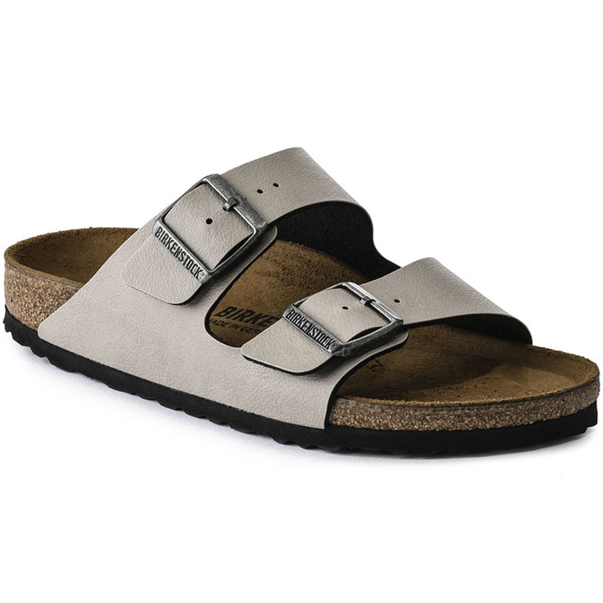 Birkenstock Women's Arizona  Birko-Flo Stone Birko-flor Pull Up Sandals - 41 M EU/10-10.5 B(M) US Women/8-8.5 B(M) US Men