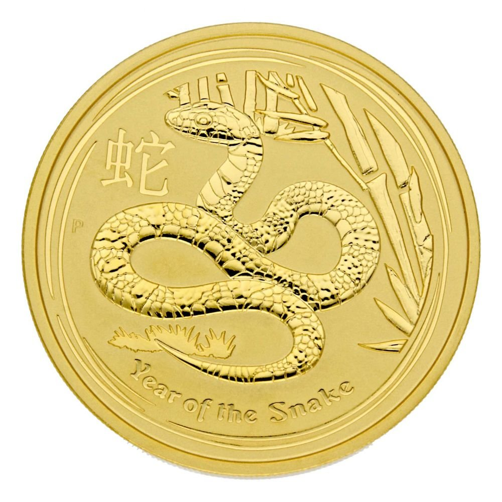 2 oz Goldmünze Australien 2013 Lunar Serie II  Year of the Snake  (Schlange) - 2 Unze 999,9 Gold