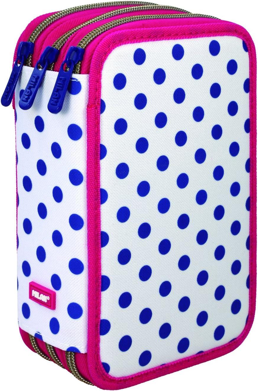 Milan Dots 3 Estuches, 20 cm, Azul/Blanco: Amazon.es: Equipaje