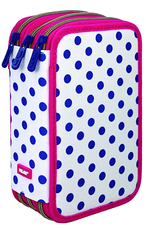 Milan Dots 3 Estuches, 20 cm, Azul/Blanco: Amazon.es: Equipaje