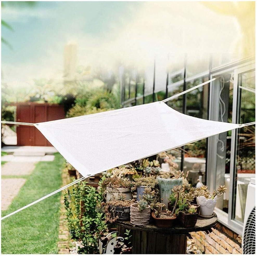 Toldo para jardín, toldos, toldos, toldos, sombra, toldo, sombra, 3 x 5 m, 4 x 4 m, tela blanca, malla con ojales, protección UV, parasol para pérgola, toldo, patio, patio o patio,