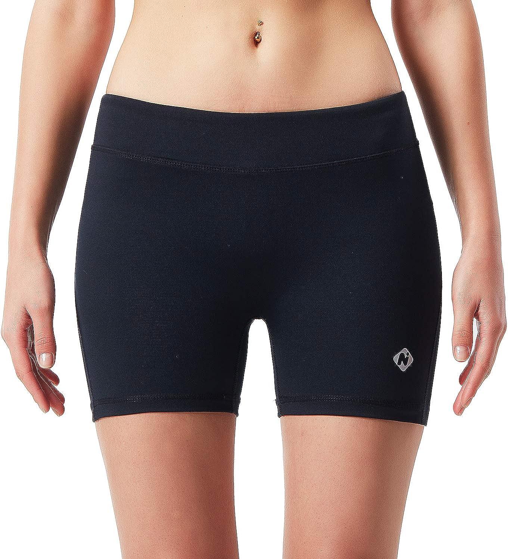 """NAVISKIN Pantaloncini Stretti Sportivi da Donna Yoga 8/"""" Pantaloni Elastici Corti a Vita Alta con Tasche Laterali Bermuda Morbida per Palestra e Allenamento"""
