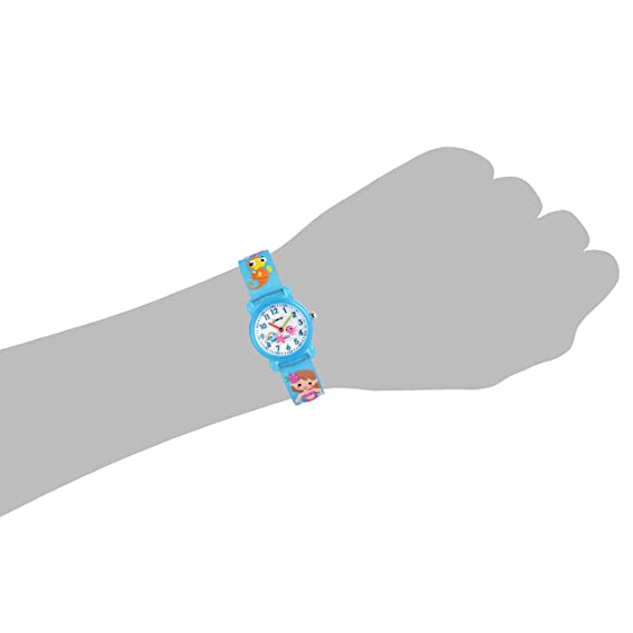 Amazon.com: Wolfteeth Girls Watch Analog Watch for Kids Blue Sea Horse Band 306606: Watches