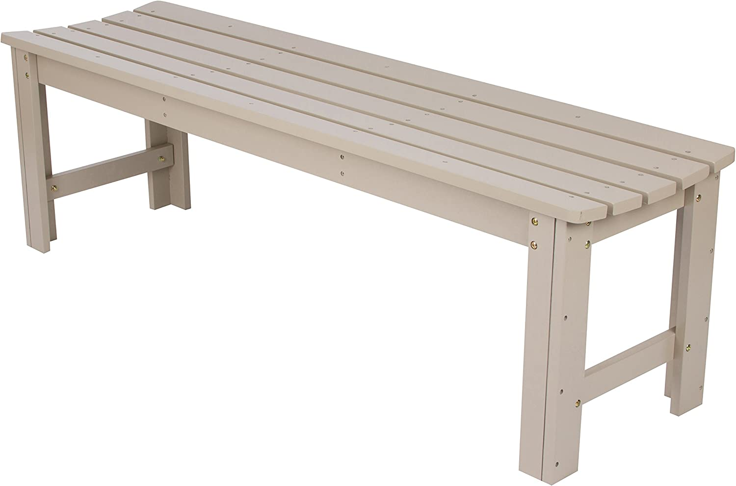 Shine Company 4205TG Backless Garden Bench, 5 Ft, Taupe Gray
