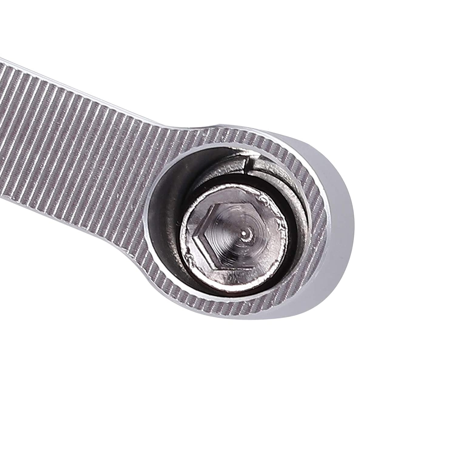 Neoteck Universal 8mm to 10mm Stem Mirror Mount Bolts Risers Extenders Adapters 1.25mm Thread Pitch for Motorcycle,Dual Sport,Cruisers,Scooters,Sportbikes Silver