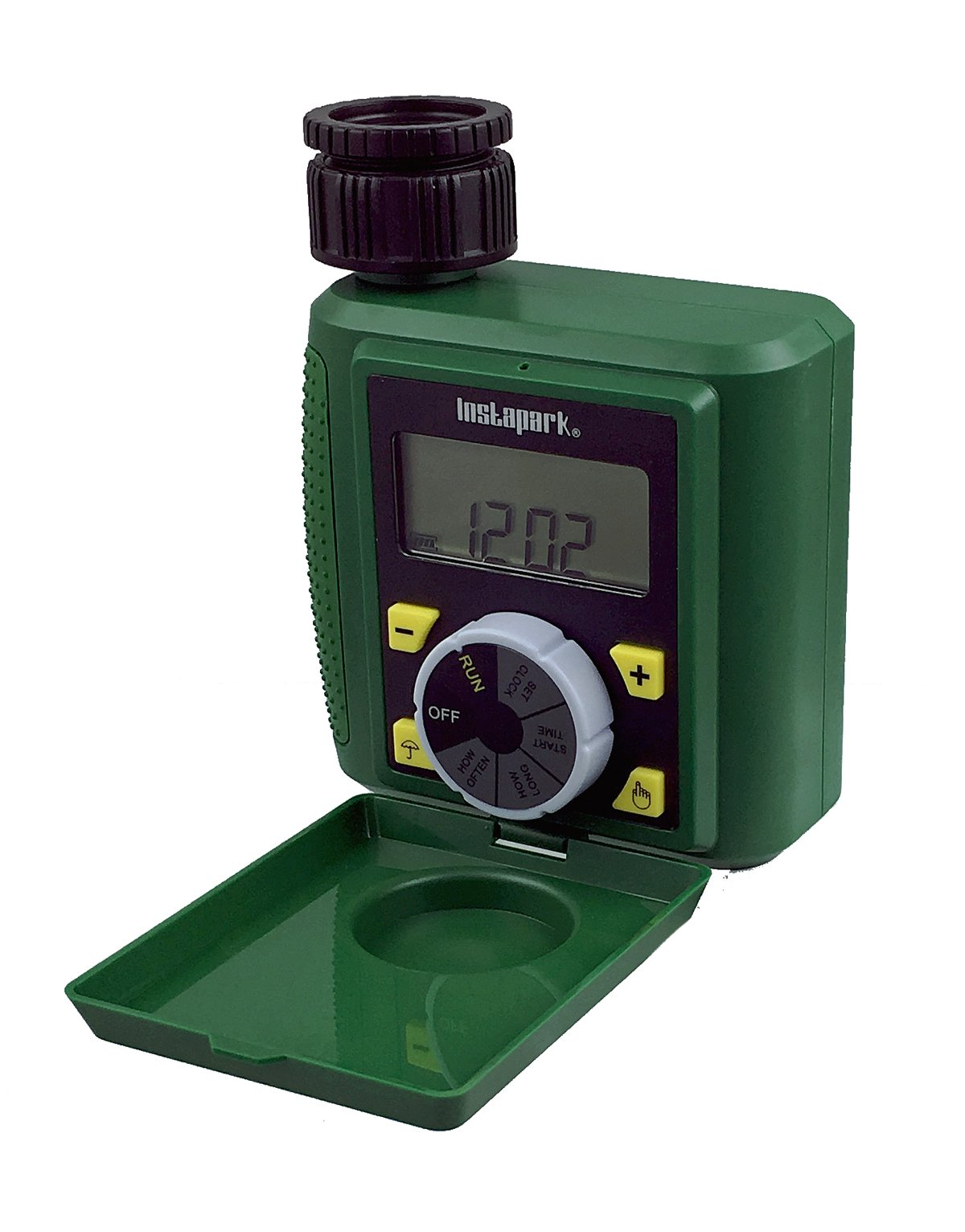 Instapark PWT-07 Outdoor Waterproof Digital Programmable Single Outlet Automatic On Off Water Faucet Hose Timer with Rain Delay and Manual Control by Instapark (Image #2)