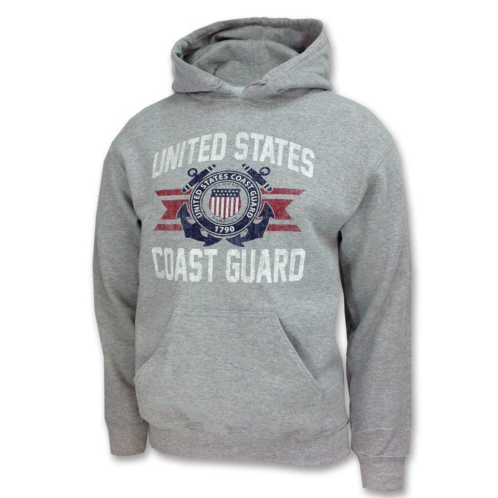 Armed Forces Gear Mens Coast Guard Vintage Basic Hooded Sweatshirt