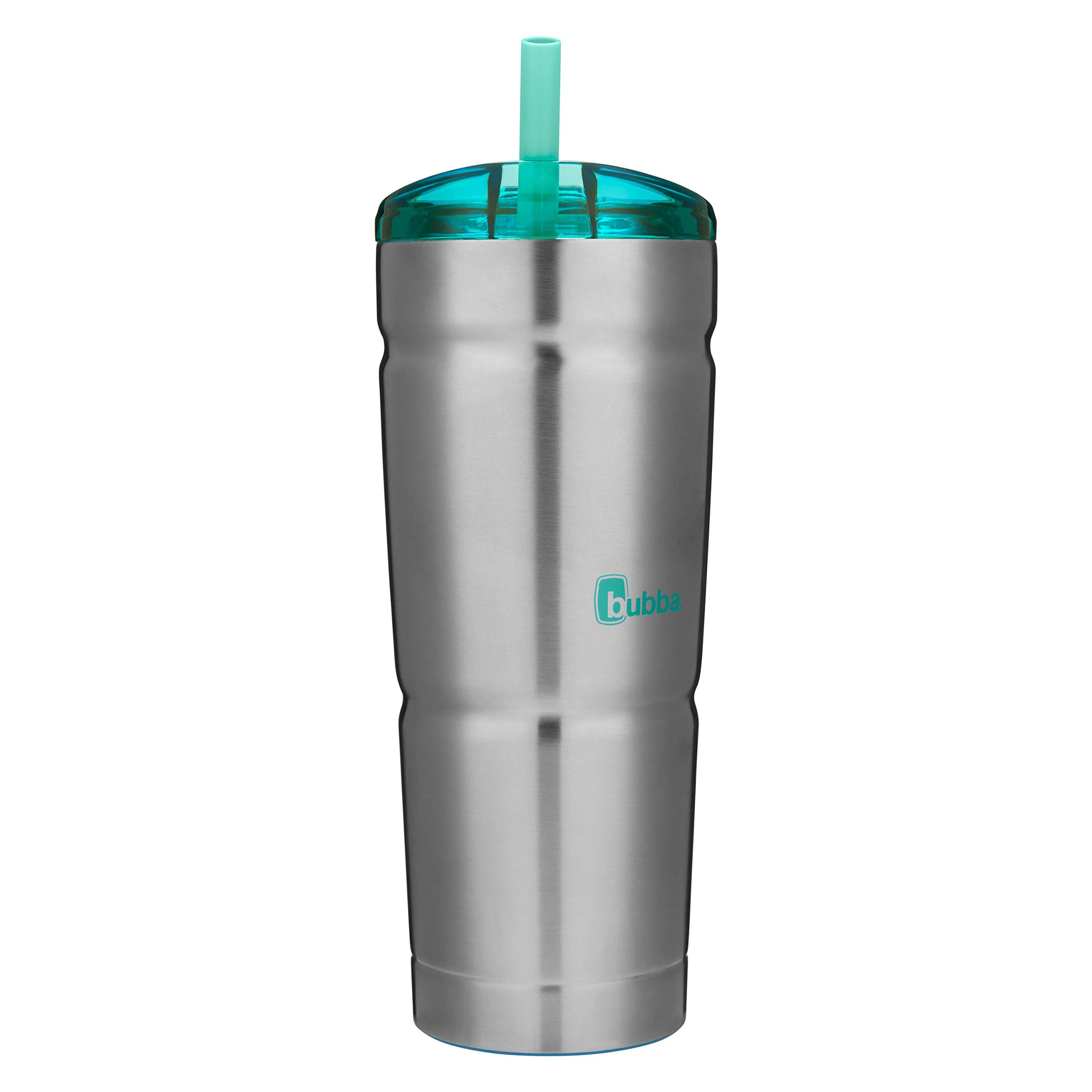bubba Straw Envy Vacuum-Insulated Stainless Steel Tumbler, 24 oz., Island Teal Lid by bubba