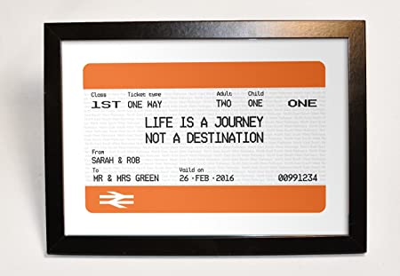 Personalised Rail Ticket Gift