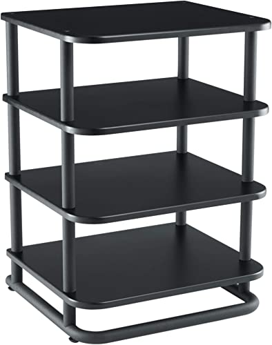 Sanus AV Media Stand with Built-in Cable Mangement Adjustable Feet – Heavy Duty Design Holds 400lbs of Audio Video Components – Features Simple 15-Minute Install Includes All Hardware