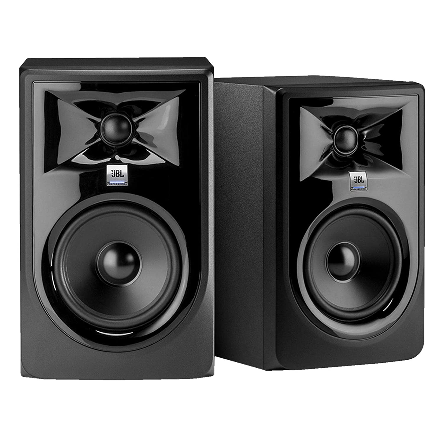 JBL 306P MkII 6.5 Powered Studio Reference Monitor Speakers Pair w Stands Pack