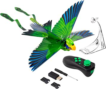Zing Go Go Bird - Green - Remote Control Flying Toy – Looks and Flies Like A Real Bird - Great Starting RC Toy for Boys and Girls That is Easy to Use Indoors and Outdoors (ZG789G)