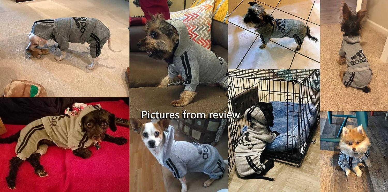 Idepet XXL, Navy Blue TM Adidog Pet Dog Cat Clothes 4 Legs Cotton Puppy Hoodies Coat Sweater Costumes Dog Jacket