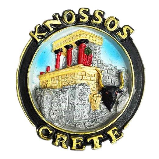 Hqiyaols Souvenir Toro Mural Knossos Creta Grecia Refrigerador 3D ...