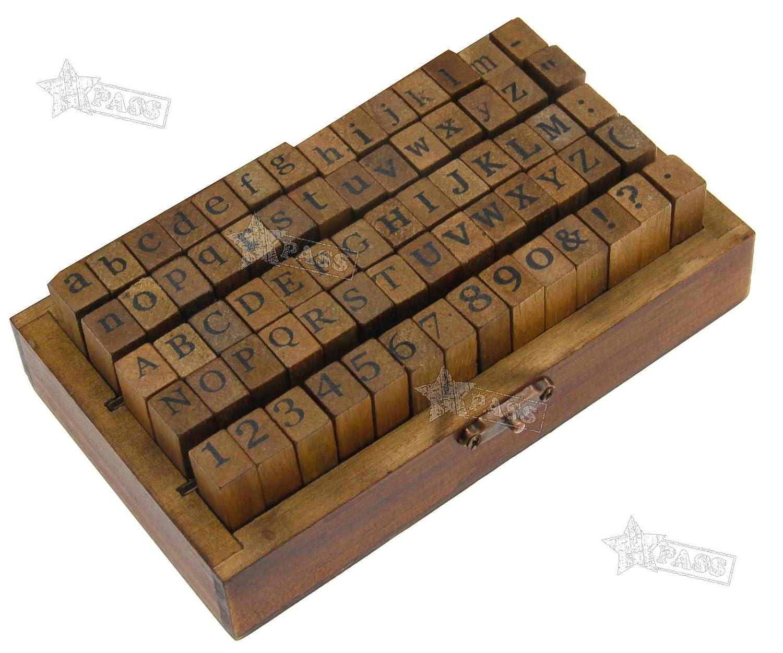 Generic Buchstaben-Set aus Holzbuchstaben, Alphabet, Buchstaben, Kinderbuchstaben, Spielzeug, S-Stempel, Buchstaben, Zahlen und S-Set.