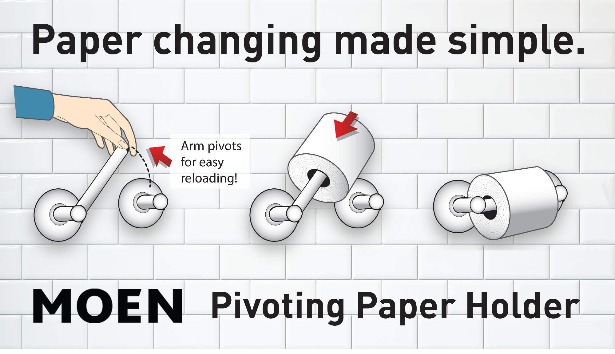 Moen YB2408CH Method Pivoting Paper Holder, Chrome by Moen