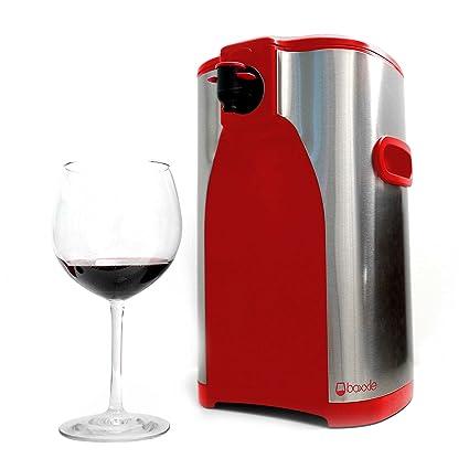 Boxxle, acero inoxidable y rojo, 3-Liter caja dispensador de vino por Boxxle