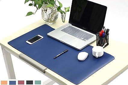 Gentil Leather Desk Pads/Mat 31.5u0026quot; X 15.7u0026quot; Writing Gaming Desk Pads  Protector,