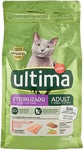 ultima Pienso para Gatos Esterilizados Adultos con Salmón - 1.5 kg: Amazon.es: Productos para mascotas