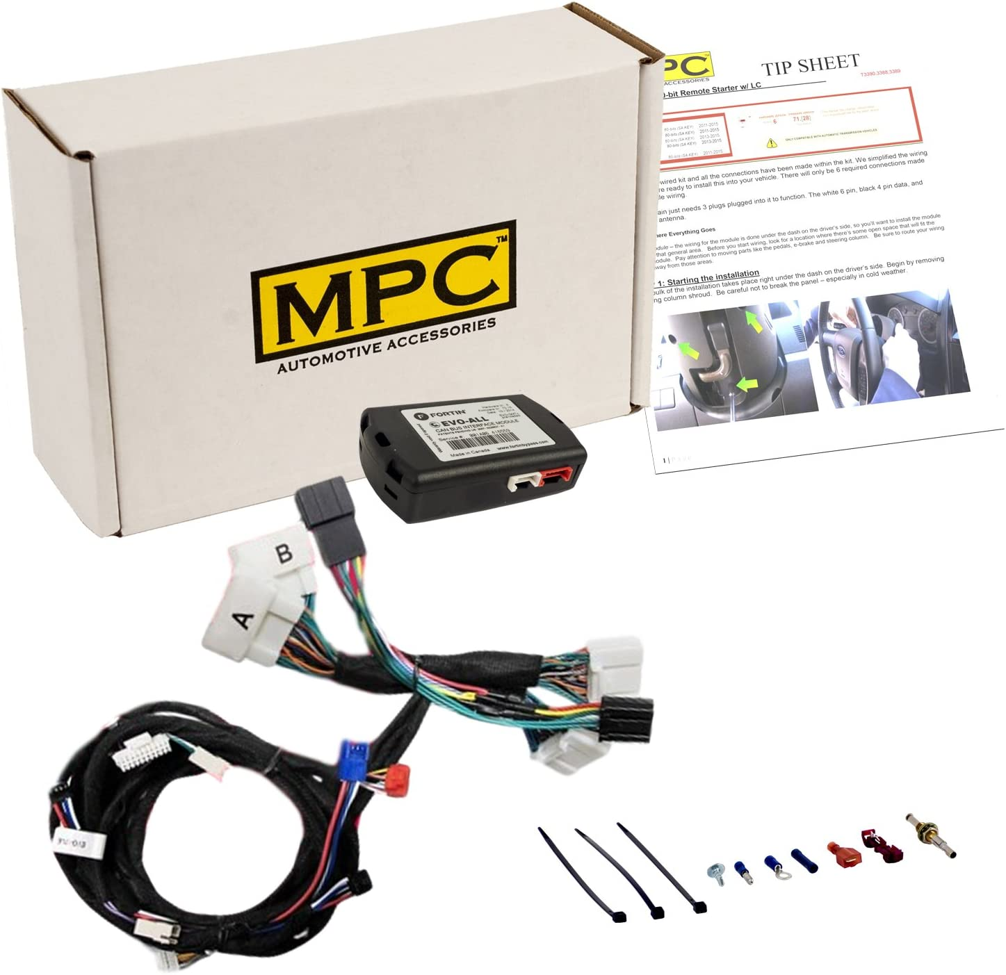 Extended Range Remotes 2 MPC Complete 1-Button Remote Start Kit for 2009-2010 Toyota Corolla