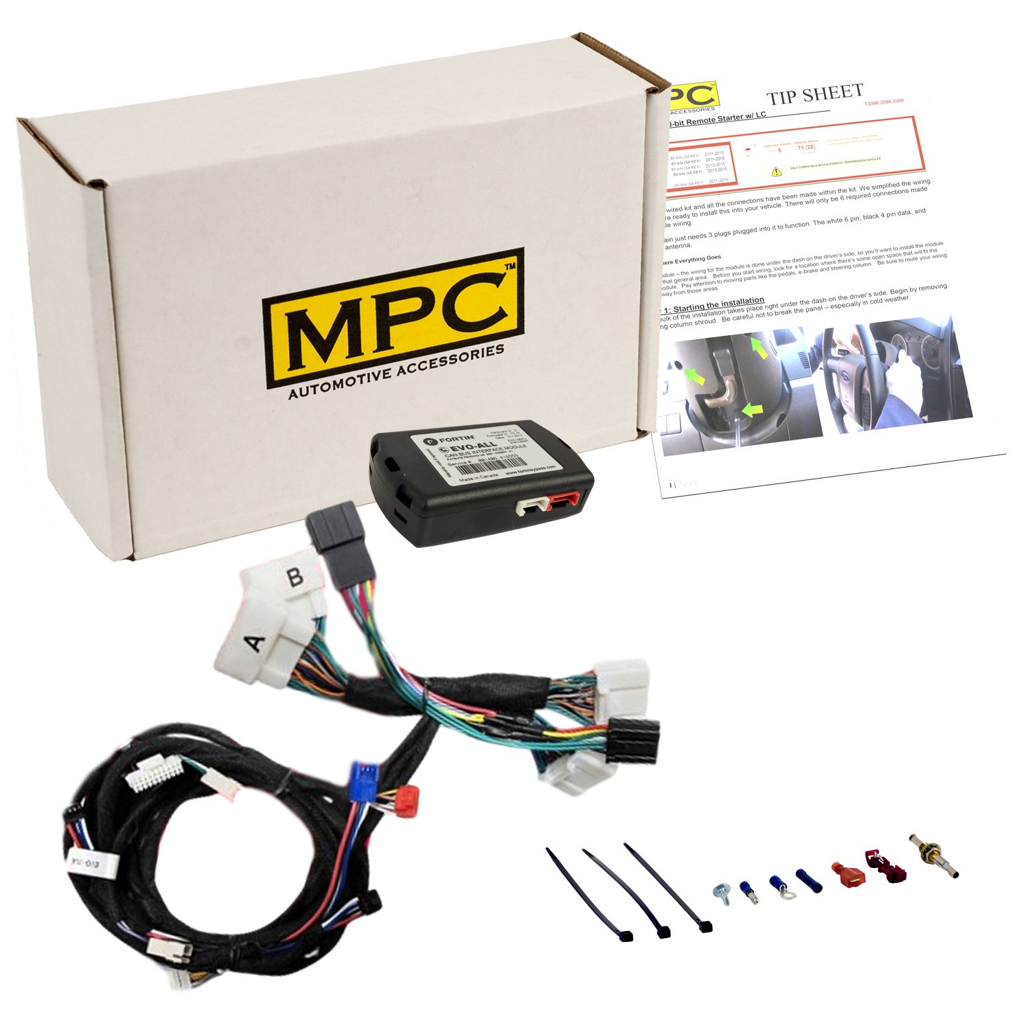 MPC Complete Plug-n-Play Remote Start Kit for 2014-2016 Toyota Highlander Push-to-Start Non-Hybrid - Uses Factory Remotes