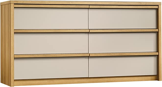 Amazon.com: Soft moderno 6 Cajón Dresser –) , color roble ...